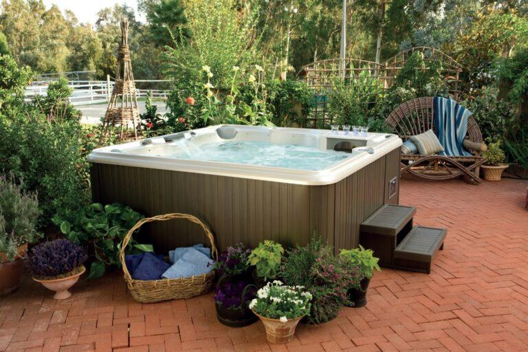 outdoor Sundance spas hot tub installation in Kitchener Waterloo