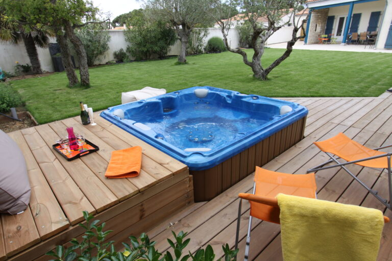 sundance spas Landscaping Ideas for Your Hot Tub This Spring